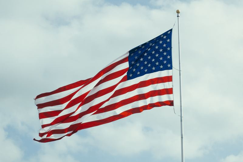 us masters admission process : american flag